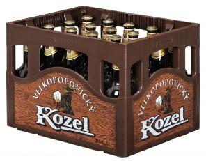 Velkopopovický Kozel 10, tmavé výčepní pivo